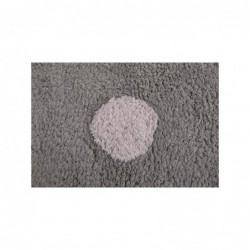 Tapis Gris – Pois tricolors – Blanc/Beige/Rose