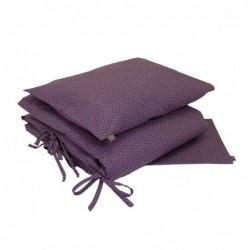 Parure de lit (Housse 100 x 140 cm + Taie) – Violet – Étoiles blanches