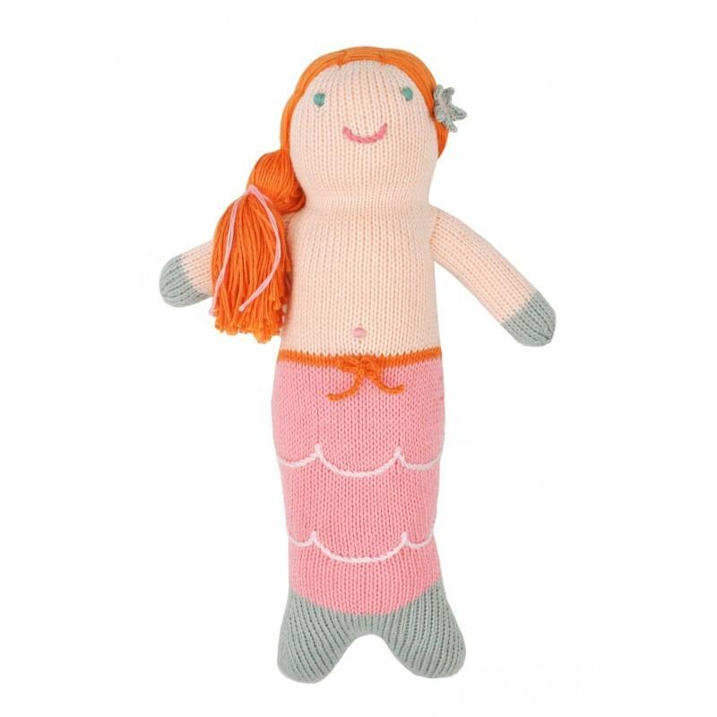 Petite peluche en tricot – Melody la sirène