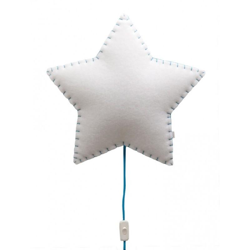 Veilleuse – Étoile – (Bleu/Rose/Jaune/Gris)