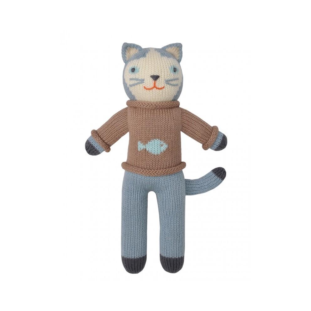 Petite peluche en tricot – Sardine le Chat