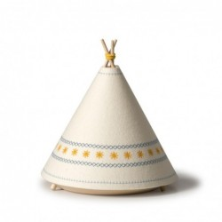 Lampe de table – Tipi – Jaune / Rouge / Bleu
