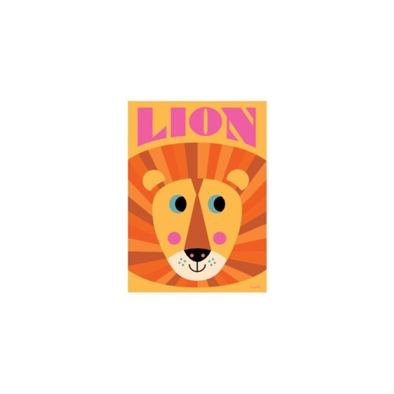 Affiche – Visage Lion
