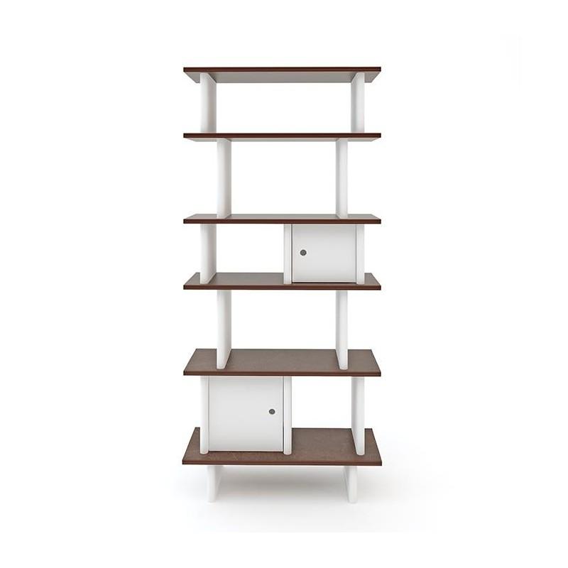 Mini-bibliothèque verticale – Noyer