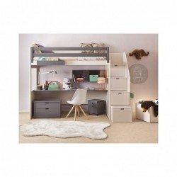 Lit mezzanine Liso – XL+ Bureau- 20 coloris