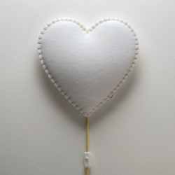 Veilleuse – Coeur – (Bleu/Rose/Gris/Jaune)