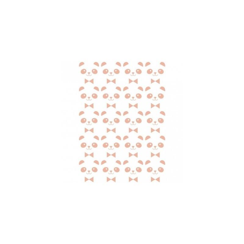 Sticker – 20 mini pandas roses