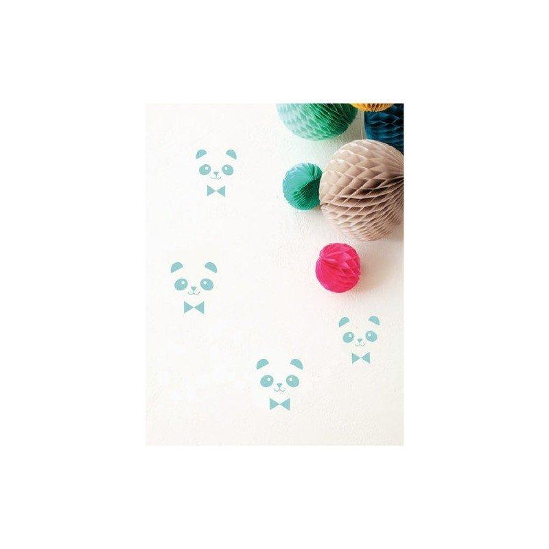 Sticker – 20 mini pandas bleus