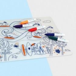 Set de table à colorier – Surf Party