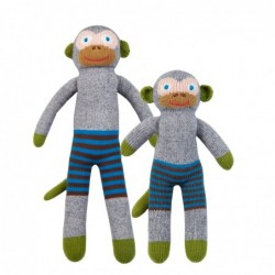 Petite peluche en tricot – Mozart le singe