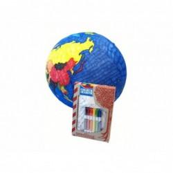 Planète terre à colorier