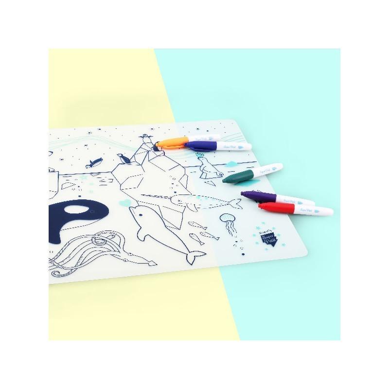 Set de table à colorier – banquise