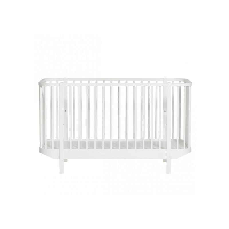 Lit de bébé évolutif – Wood Collection – Blanc