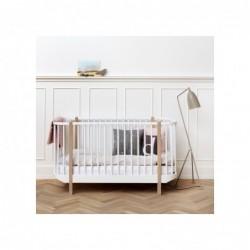 Lit de bébé évolutif – Wood Collection – Blanc/Chêne