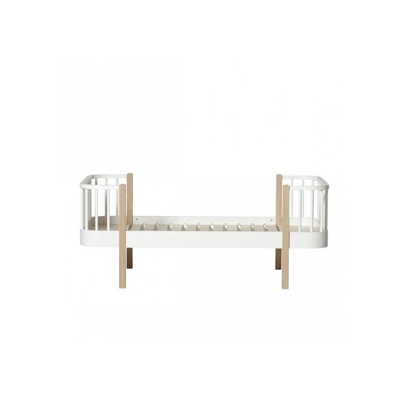 Lit junior – Wood Collection – Blanc/chêne