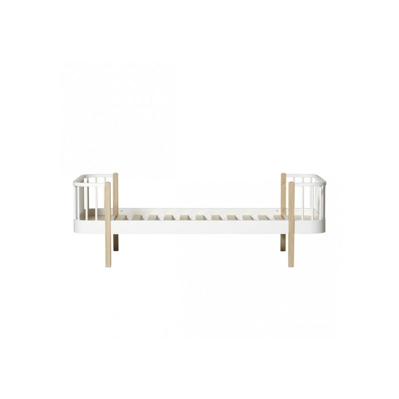 Lit junior – Wood Collection – Blanc/chêne (Large)