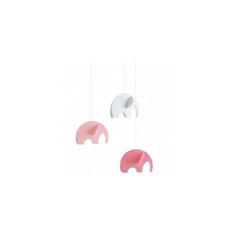 Mobile suspendu – Éléphant Rose