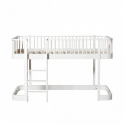 Lit mezzanine bas – Wood Collection – Blanc