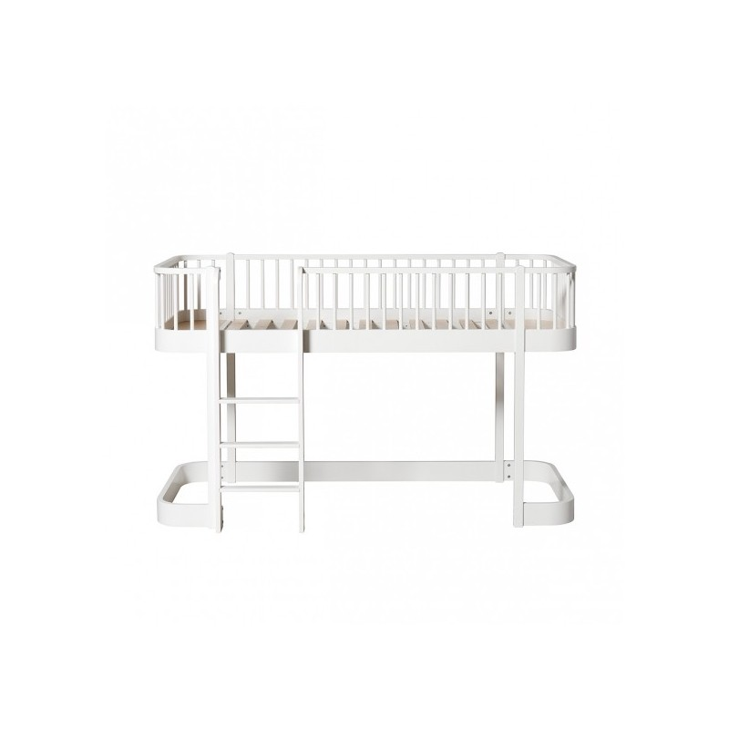 Lit mezzanine bas – Wood Collection – Blanc