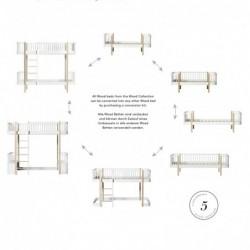 Lit mezzanine bas – Wood Collection – Blanc/chêne