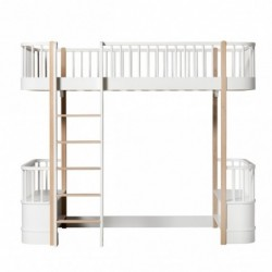 Lit mezzanine – Wood Collection – Blanc/chêne