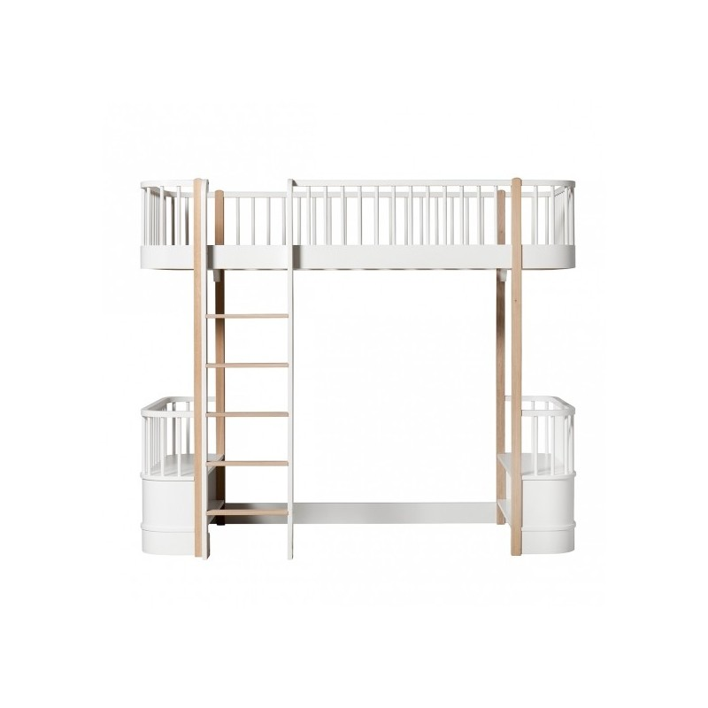 Lit mezzanine – Wood Collection – Blanc/chêne