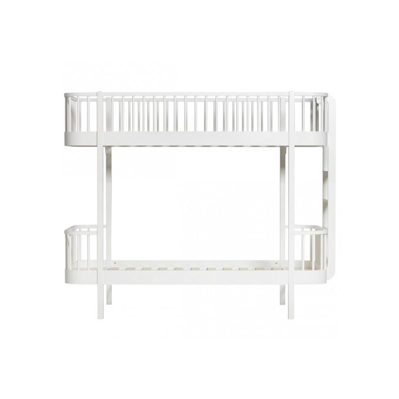 Lit superposé – Wood Collection – Blanc (échelle de côté)