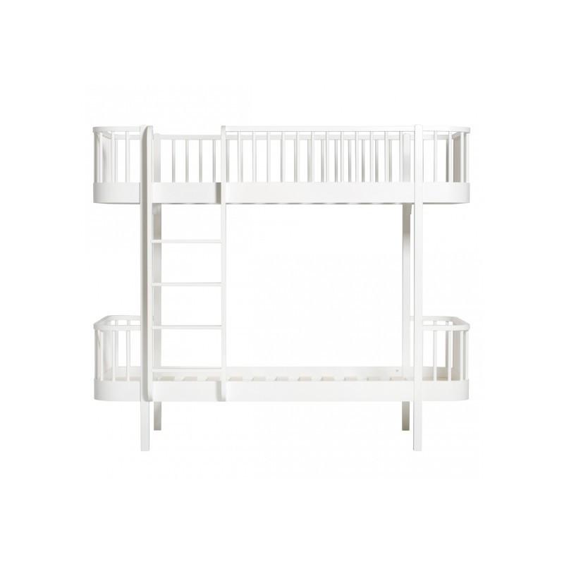 Lit superposé – Wood Collection – Blanc (échelle devant)