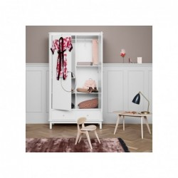 Armoire – Wood Collection – Blanc (2 portes)