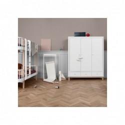 Armoire haute – Wood Collection – Blanc/chêne (3 portes)