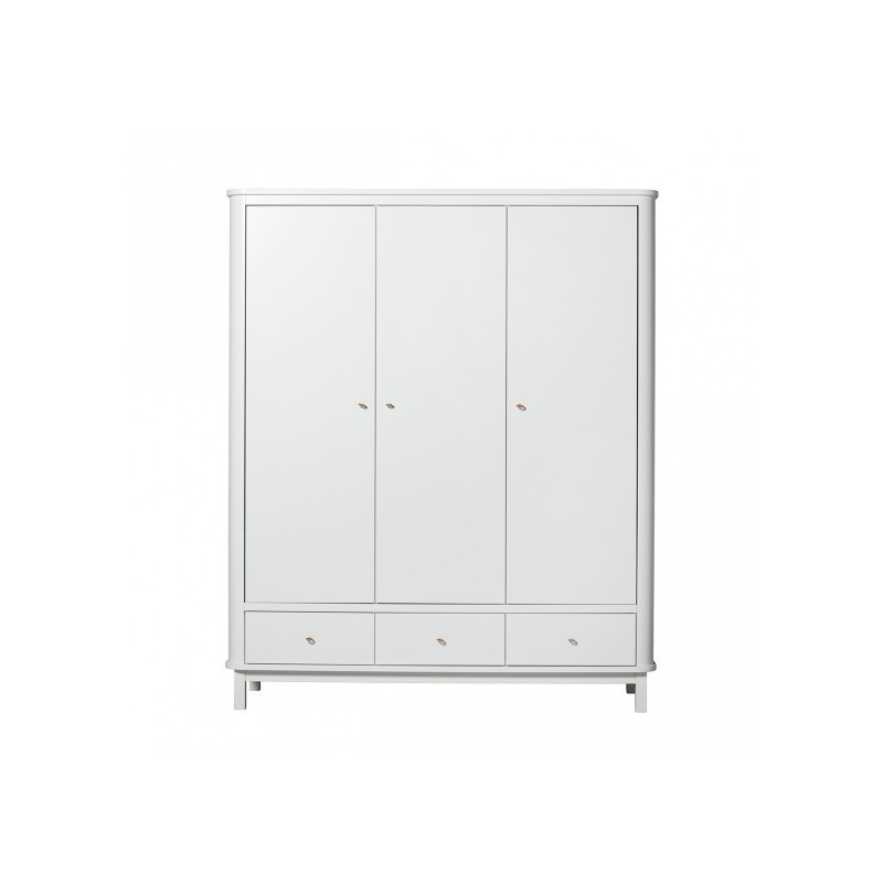Armoire – Wood Collection – Blanc (3 portes)