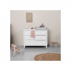 Commode – Wood Collection – Blanc (6 tiroirs)