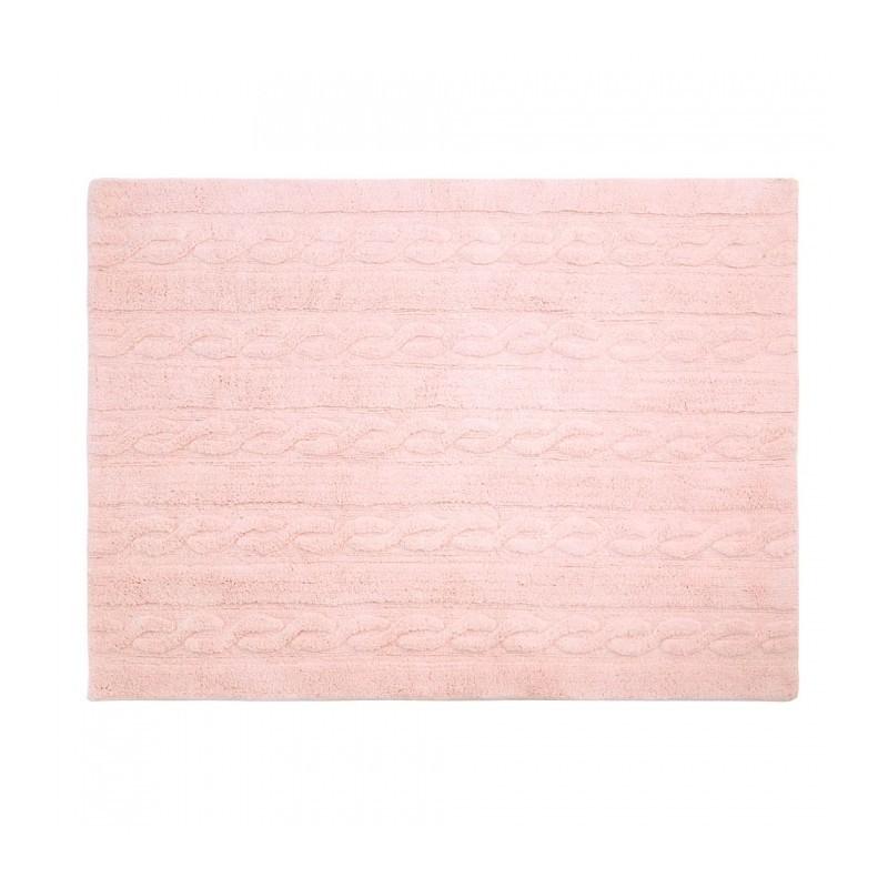 Tapis – Tresses – Rose Clair