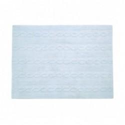 Tapis – Tresses – Bleu Clair