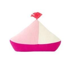 Coussin – bateau – rose
