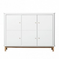 Armoire – Wood Collection – Blanc/chêne (3 portes)