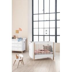 Lit bébé évolutif – Wood Mini Collection – Blanc/Chêne