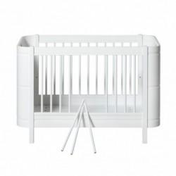 Lit de bébé évolutif – Wood Mini Collection – Blanc