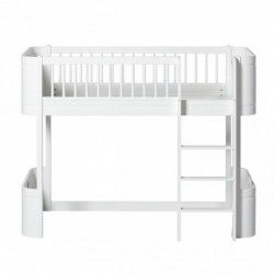 Lit mezzanine bas – Wood Mini Collection – Blanc