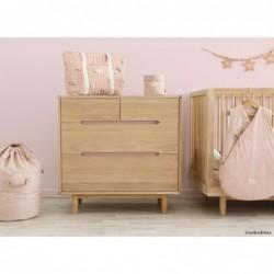 Sac de rangement – Bamboo – Vieux rose et bulles