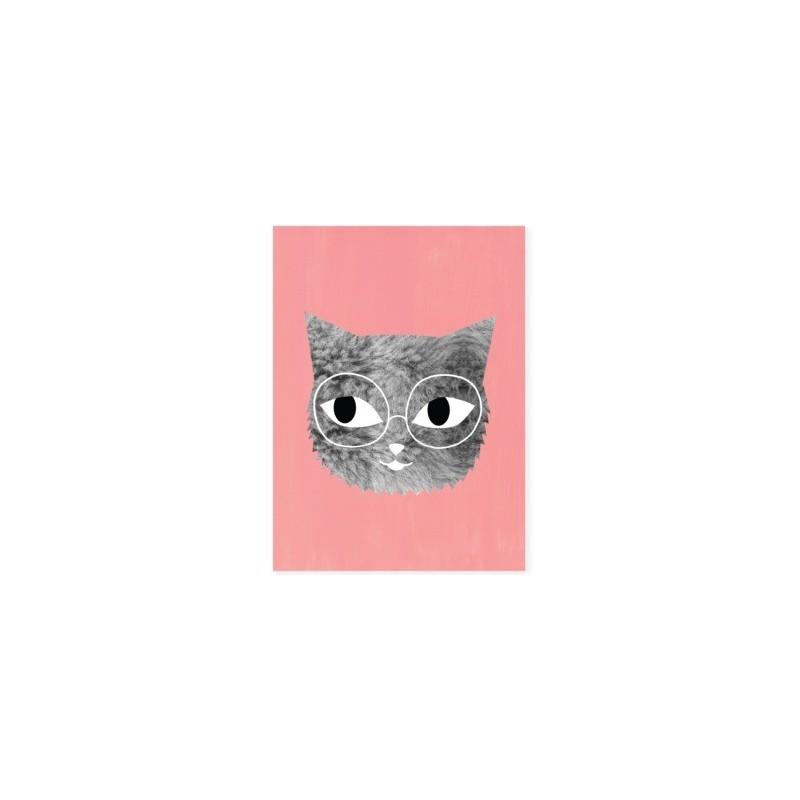Affiche – Chat avec lunettes