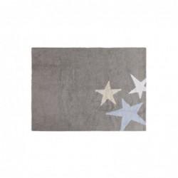 Tapis gris – 3 étoiles – Blanc/Beige/Bleu