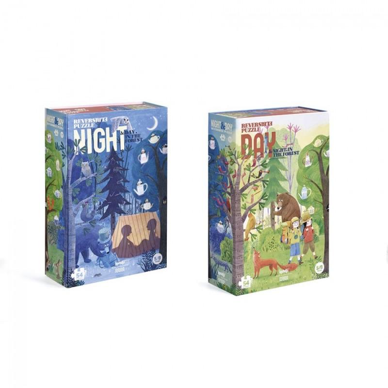 Puzzle – Jour et nuit dans la forêt