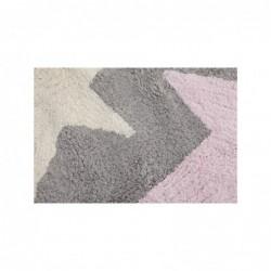 Tapis gris – 3 étoiles – Blanc/Beige/Rose