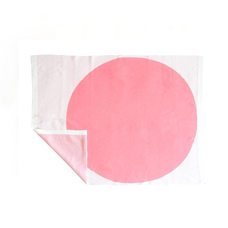 Couverture Jacquard en coton BIO – Rose