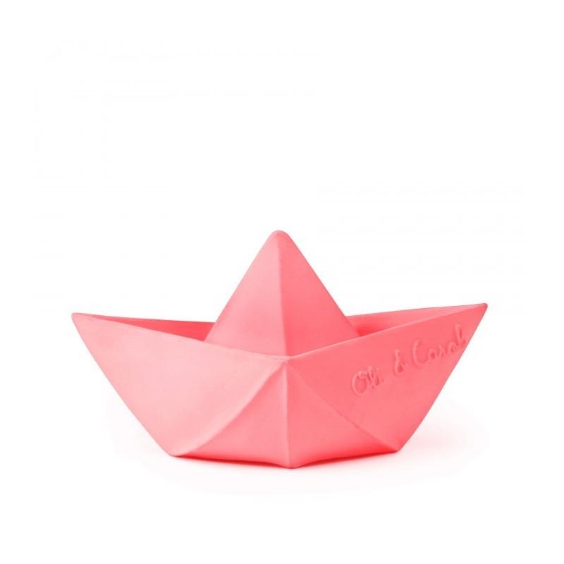 Jouet – Petit bateau origami – rose