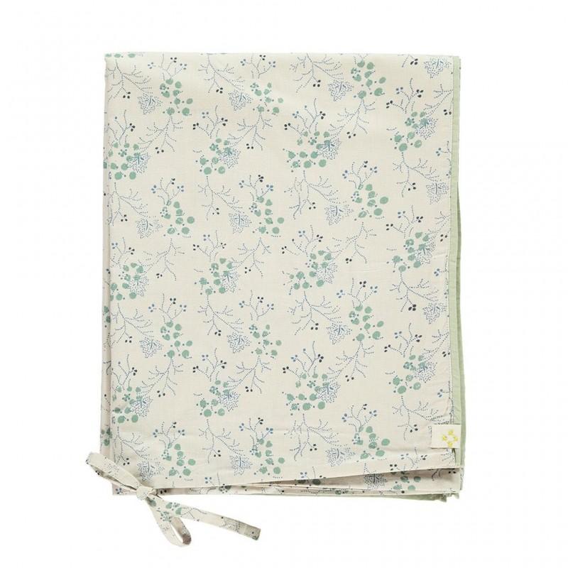 Housse de couette 100×140 – Taie d'oreiller 60×40 – Minako Floral Bleuet