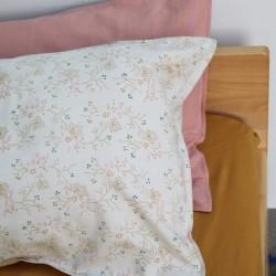 Housse de couette 140×200 – Taie d'oreiller 75×50 – Minako Floral Doré