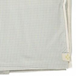 Housse de couette 140×200 – Taie d'oreiller 75×50 – Double Carreaux ivoire/Bleu