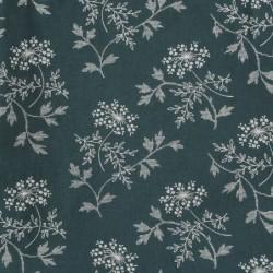 Housse de couette 140×200 – Taie d'oreiller 75×50 – Hanako Floral Thunder Bleu